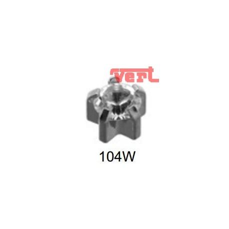 R104W TIFFANY EAR PIERCING STEEL, WHITE STONE