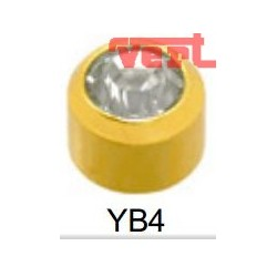 R204 (2YB-4/NC) 24CT GOLD PLATED BEZELSET BIRTHSTONE WHITE CRYSTAL COLOUR