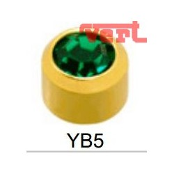 R205 (2YB-5/NC) 24CT GOLD PLATED BIRTHSTONE GREEN EMERALD COLOUR