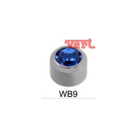 R209W (2WB-9/NC) STAINLESS POLISHED SEPT BIRTHSTONE BLUE SAPPHIRE COLOUR