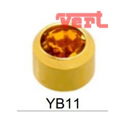 R211 (2YB-11/NC) 24CT GOLD PLATED BIRTHSTONE TOPAZ COLOUR