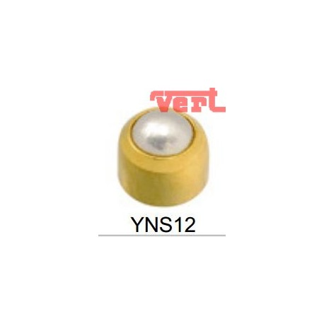 R301 (2YNS-12/NC) 24CT GOLD PLATED CABACHON WHITE