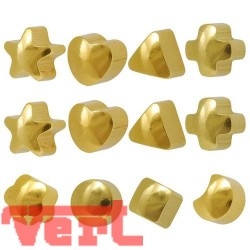 R513 (2YSH-A/NC) 24CT GOLD PLATED ASSORTED SHAPES
