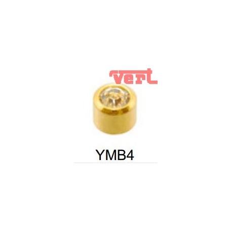 STM204 24CT GOLD PLATE MINI APRIL BEZELSET SYM4