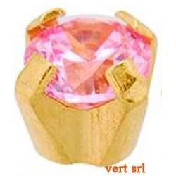 ST.18K.R006 18CT GOLD REGULAR CLAWSET PINK CUBIC ZIRCONIA SGPCZ18