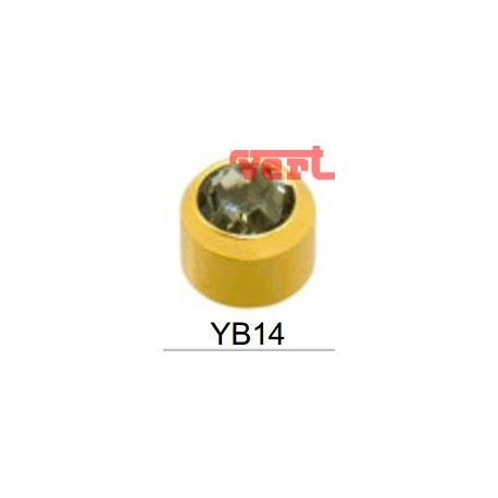 R214 (2YB-14/NC) 24CT GOLD PLATED BIRTHSTONE BLACK DIAMOND