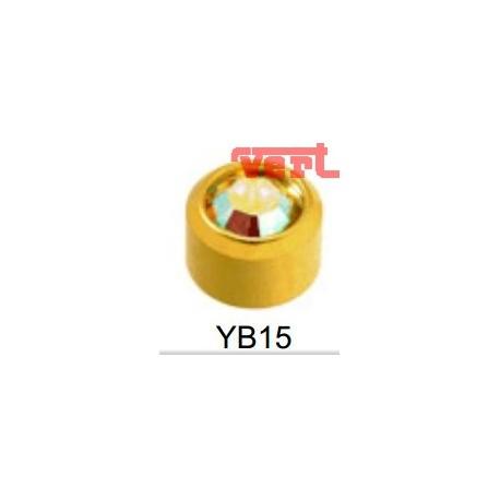 R215 (2YB-15/NC) 24CT GOLD PLATED BIRTHSTONE ROCK CRYSTAL