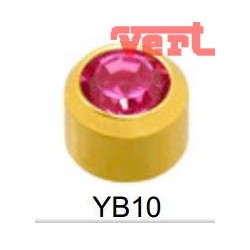 R202 (2YB-2) 24CT GOLD PLATED BIRTHSTONE AMETHYST COLOUR