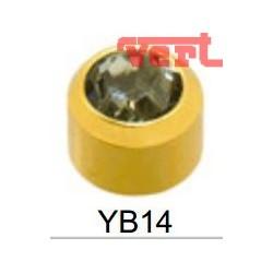 STR214 24CT GOLD PLATE REGULAR ROCK CRYSTAL BEZEL SET SY15