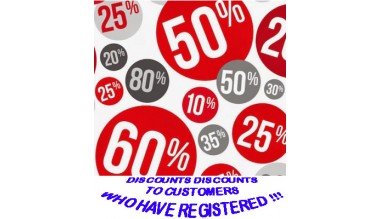 Discounts to customers after registration and account assignment